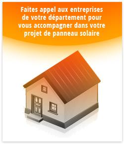 maison chauffée grâce à l'énergie solaire